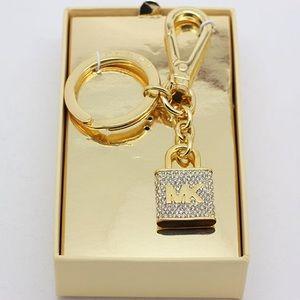 Michael Kors keychain gold color